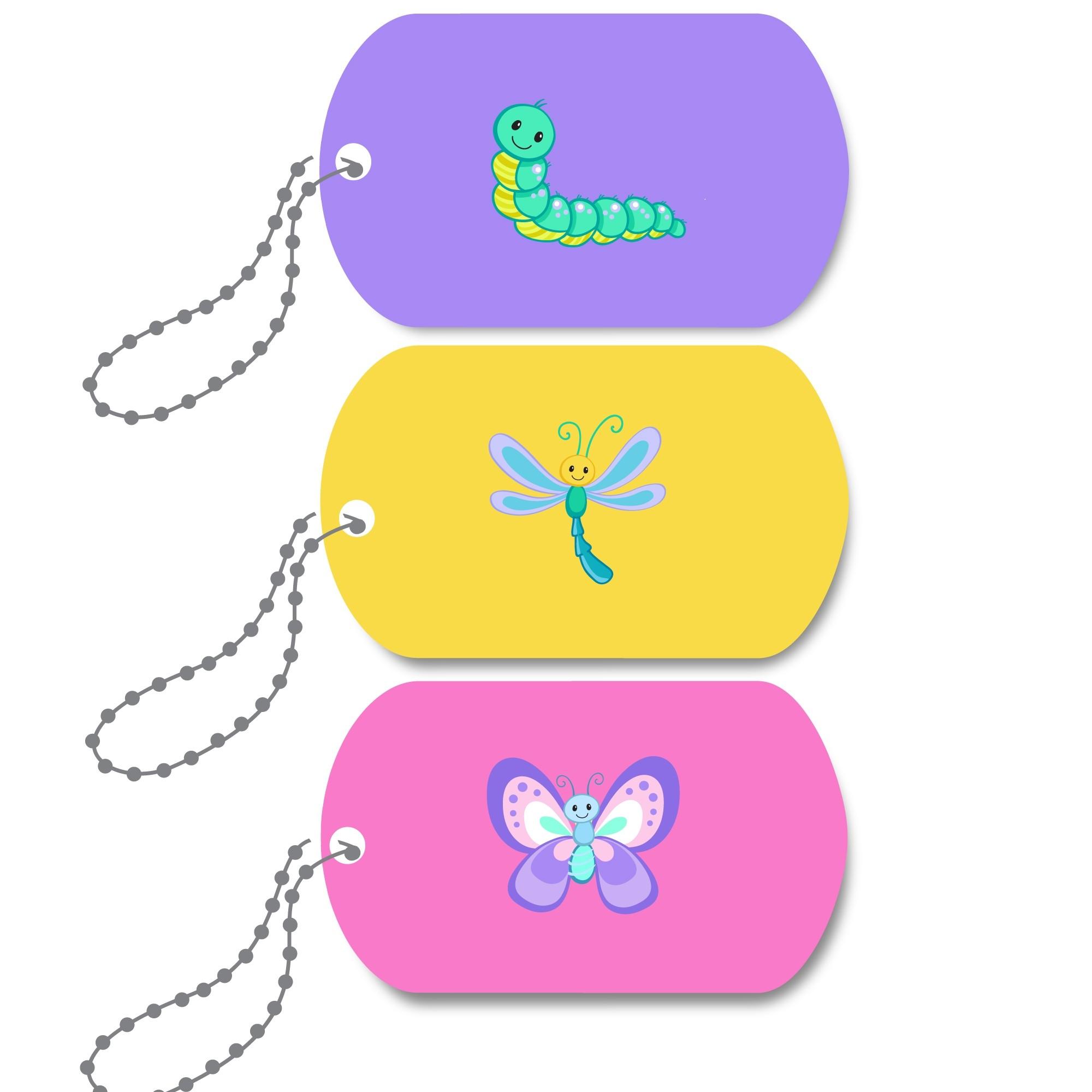 b6fff0720af3 MINITAG-BRIGHTBUG Mini-Metal Tags - Bright Bugs