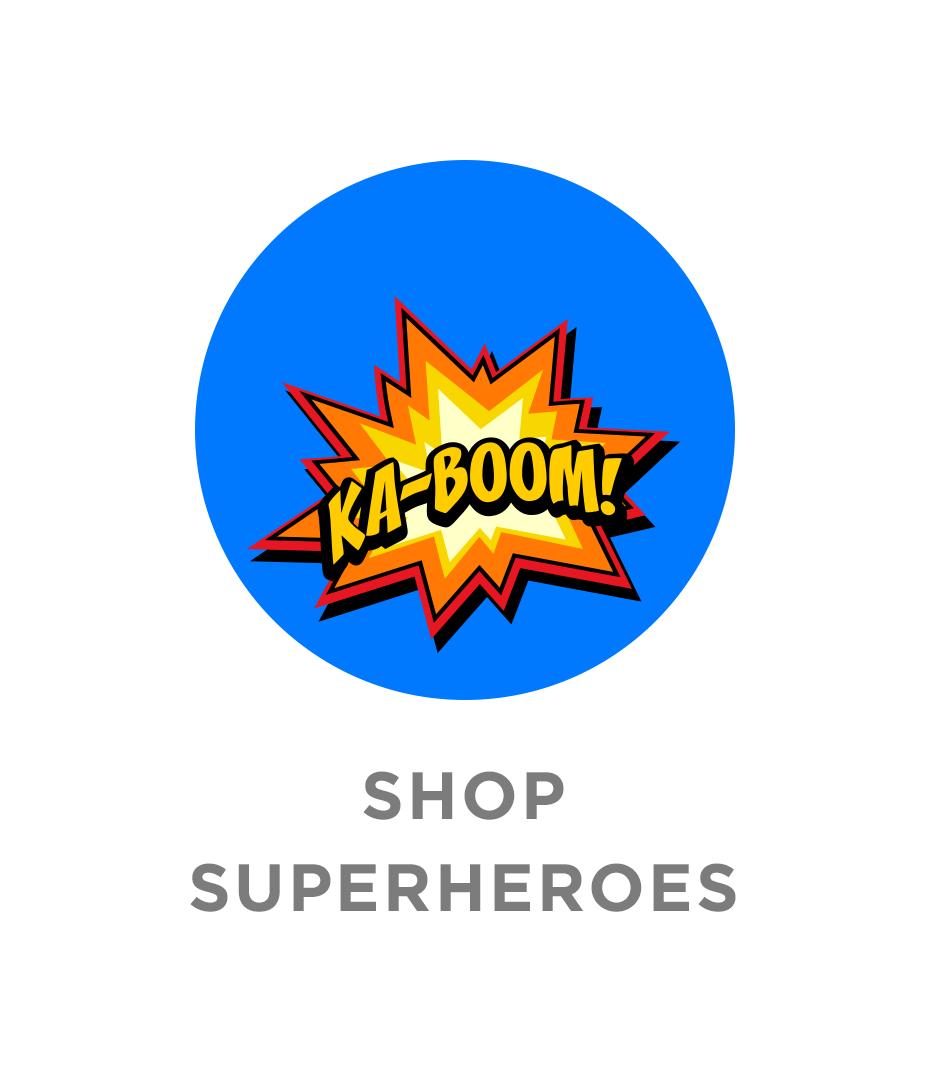 shop Super Hero Labels